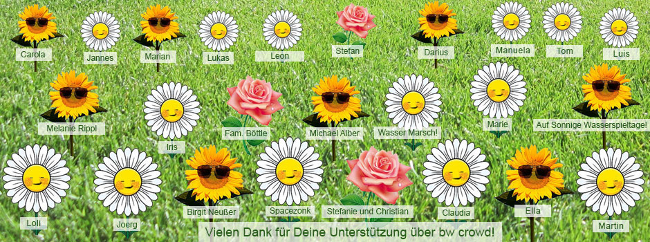 Blumenwiese für Crowd Funding Spender